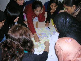 Group at map 2