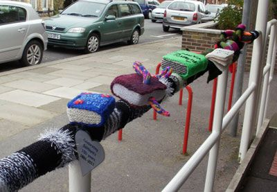 Yarn bomb books