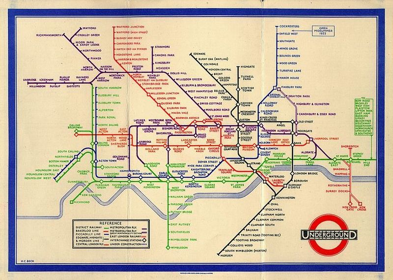 Beck's tube map 1933