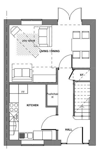 Floor plan minimum space